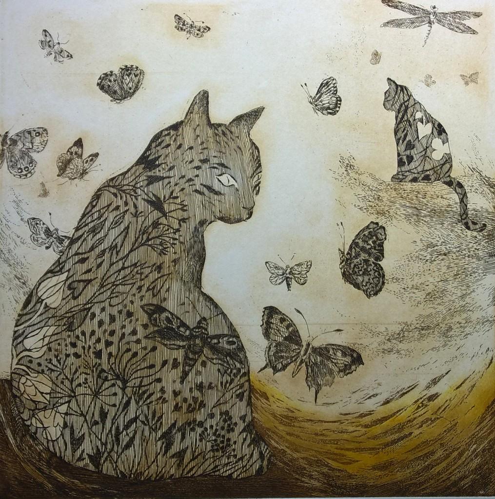 Koty, wiatr i motyle