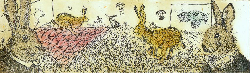 Marzec, króliki i balony